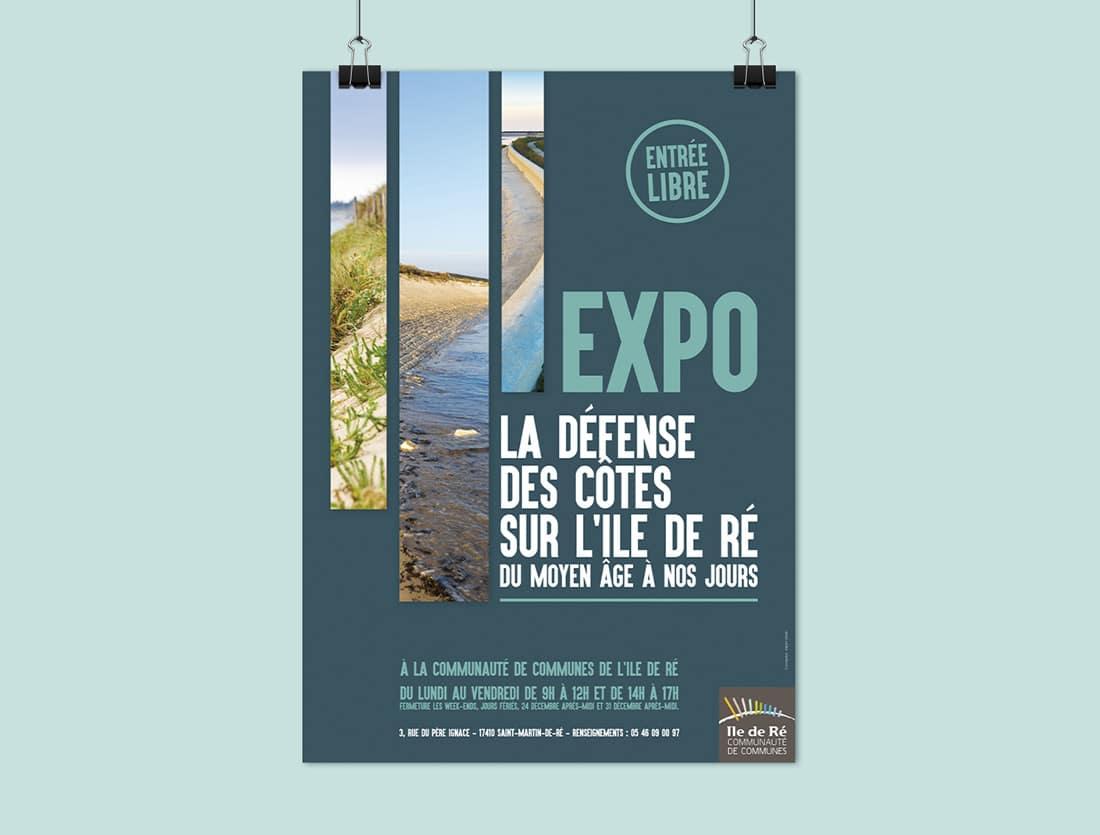 Mise en page affiche exposition Défense des côtes