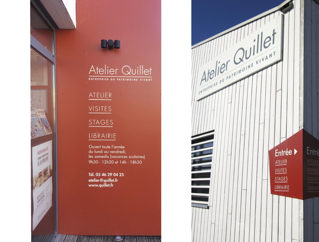 Signalétique enseigne Librairie Atelier Quillet