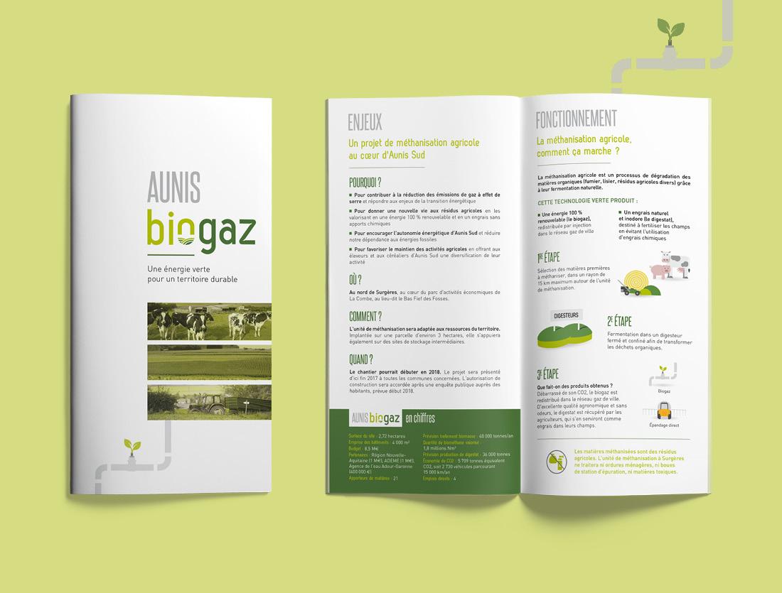 Brochure projet d'unité de méthanisation Aunis Biogaz
