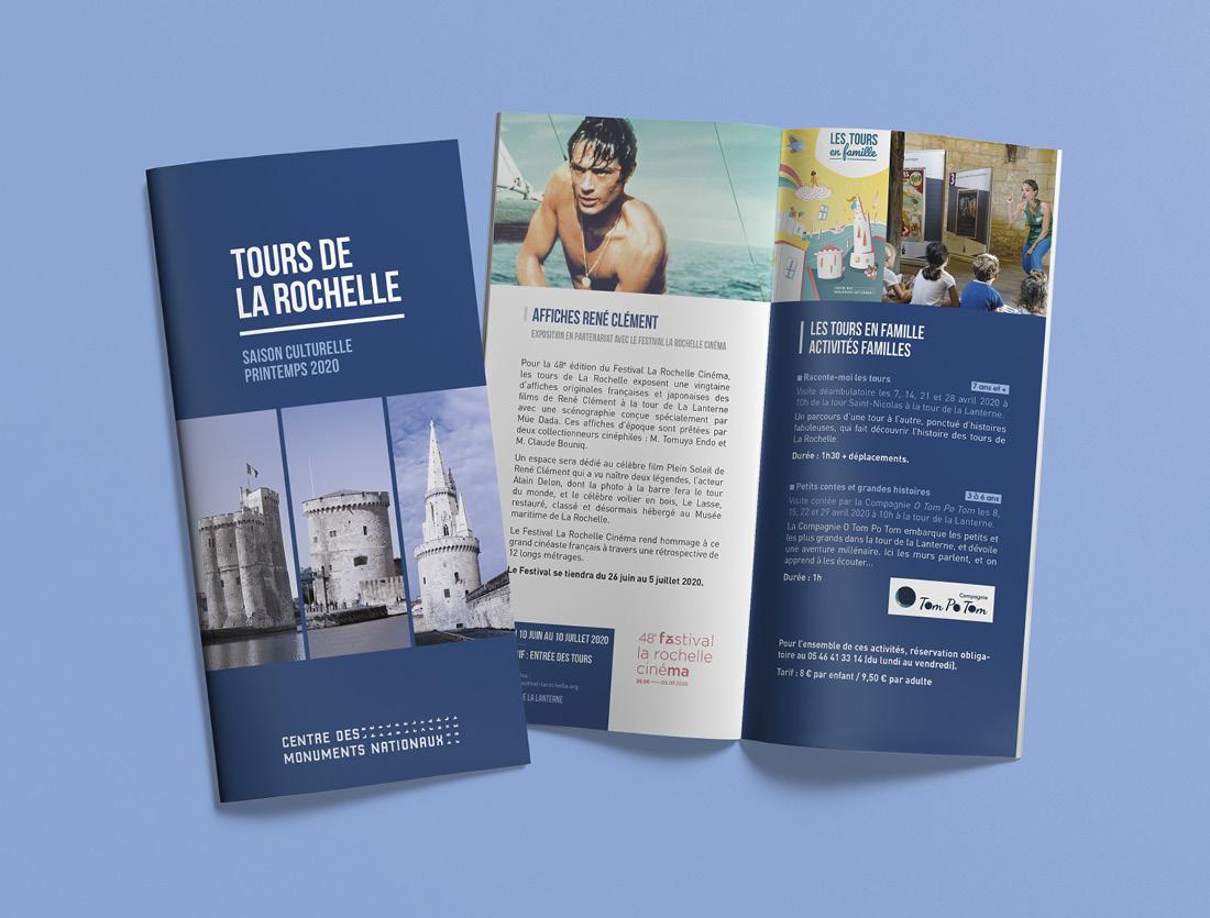 Brochures culturelle La Rochelle / mise en page