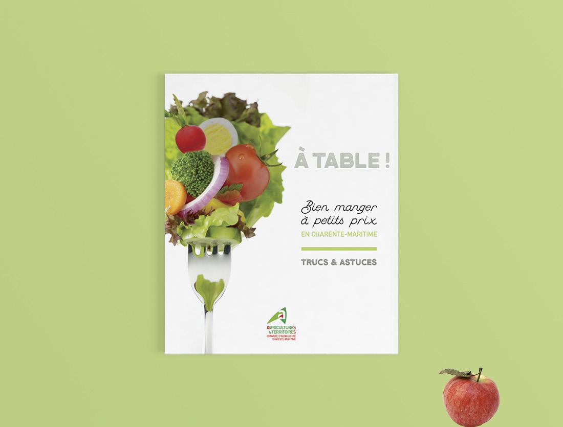 Brochure guide à table pour la chambre d'agriculture de Charente-Maritime
