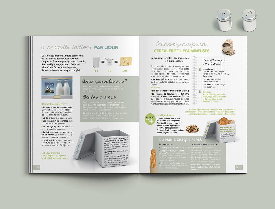 Mise en page guide à table pour la chambre d'agriculture de Charente-Maritime