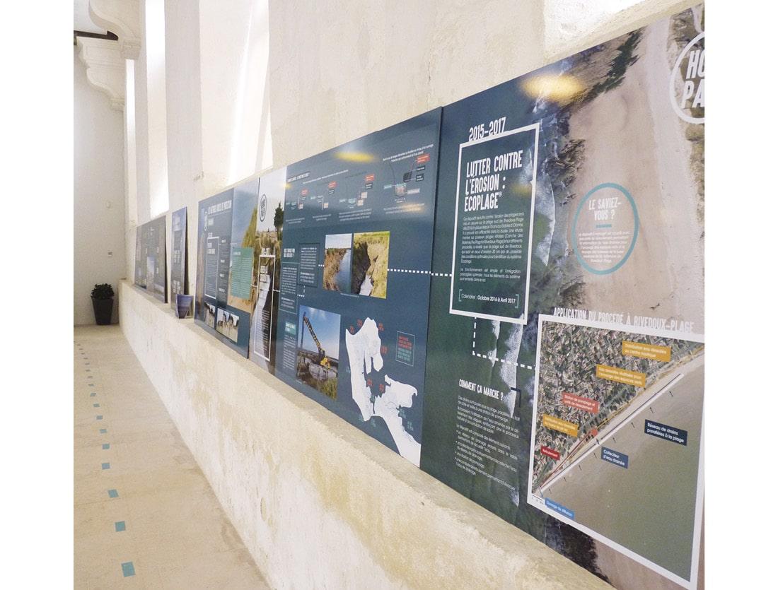 Scénographie exposition Ile de Ré / panneaux
