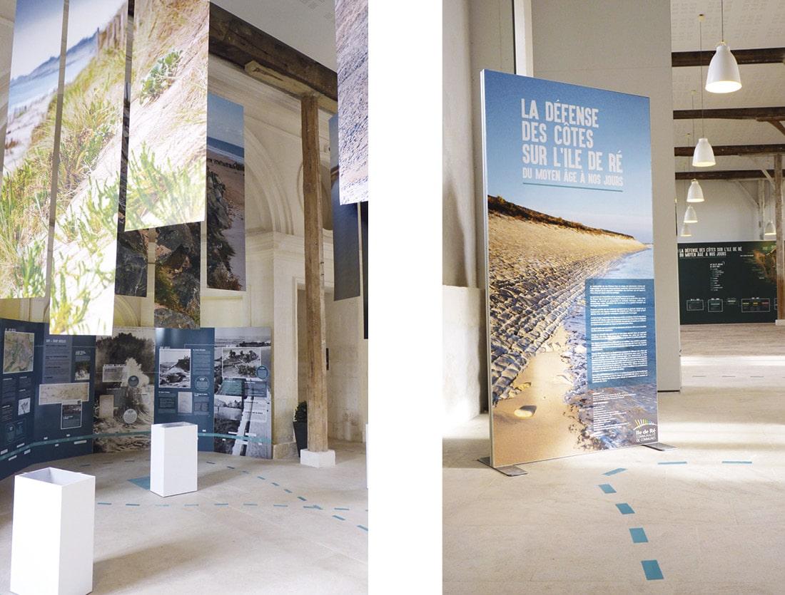 Scénographie exposition Défense des côtes Ile de Ré