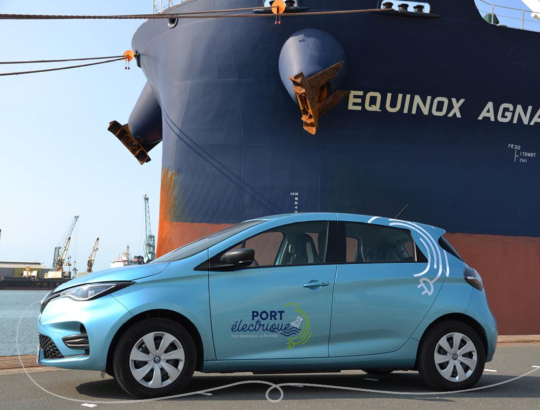 Habillage voiture logo Port électrique La Rochelle