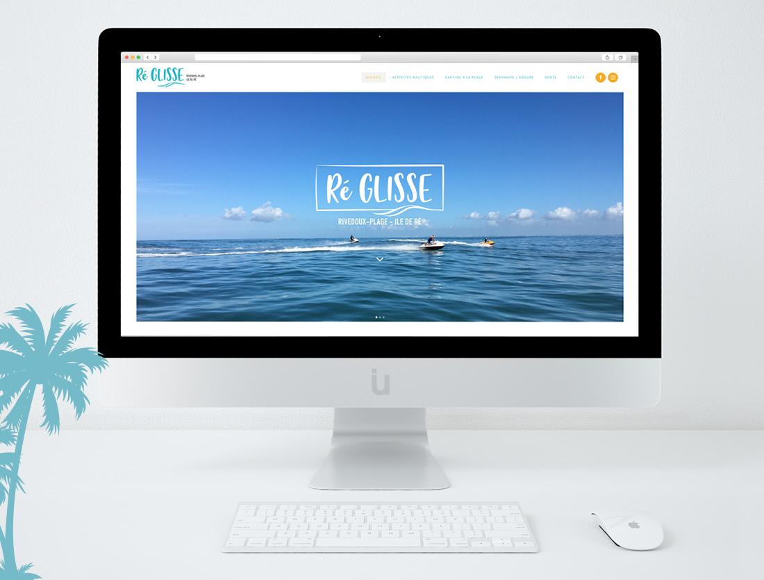 Site internet Ré Glisse bar Ile de Ré