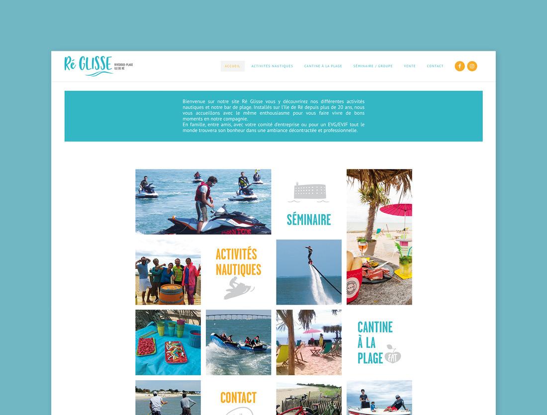 Site internet Ré Glisse Ile de Ré