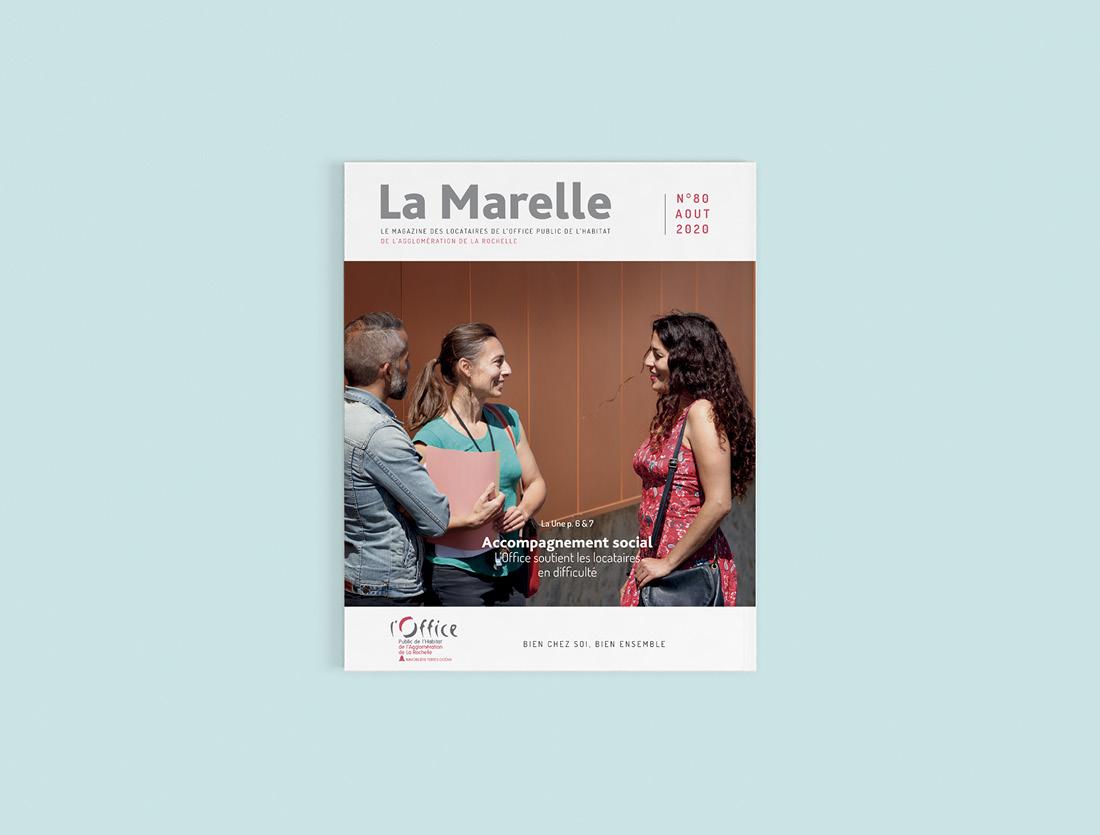 Magazine La Marelle / Mise en page couverture