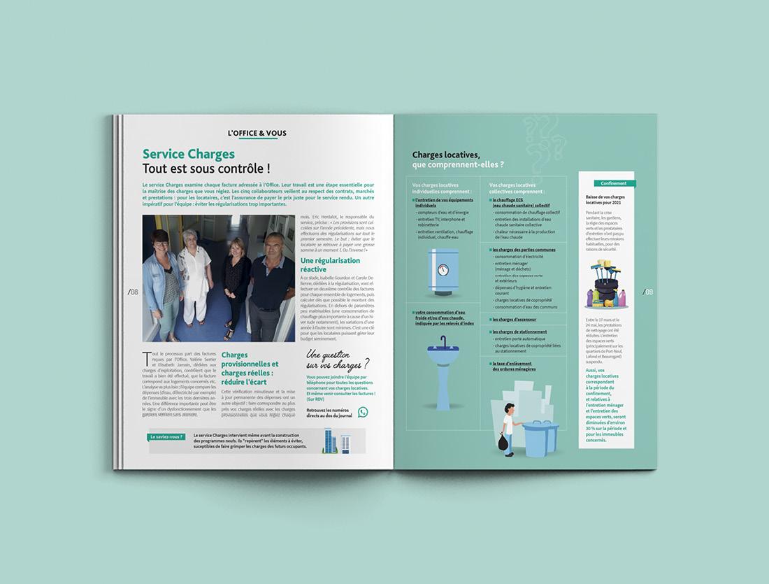 Magazine La Marelle La Rochelle / Mise en page