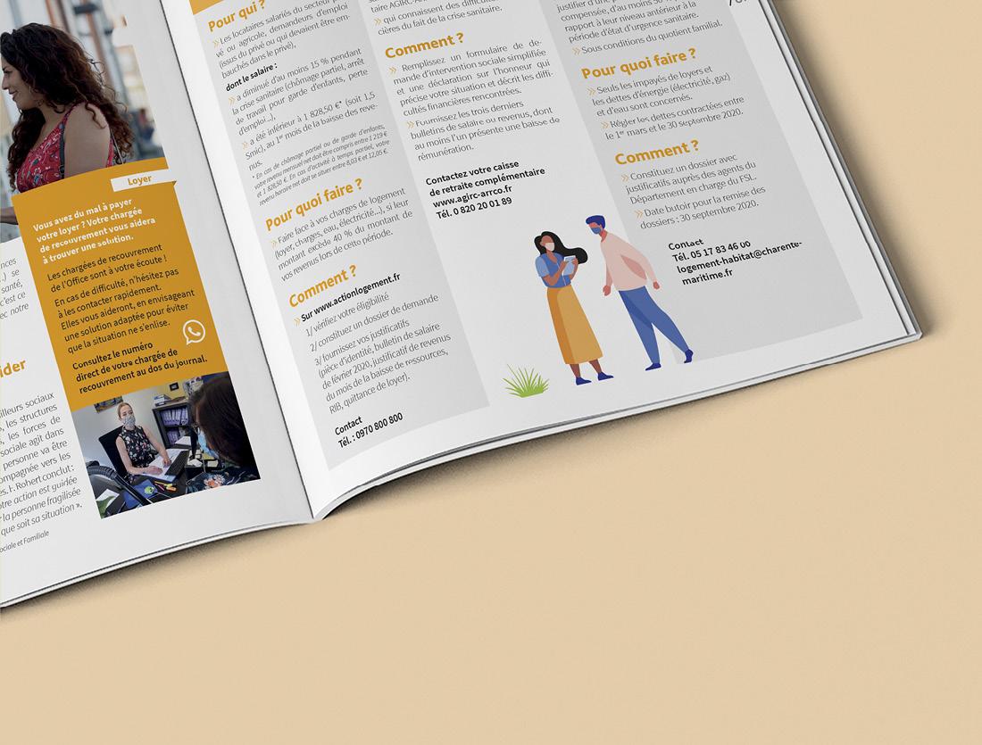 Magazine La Marelle / Mise en page intérieure