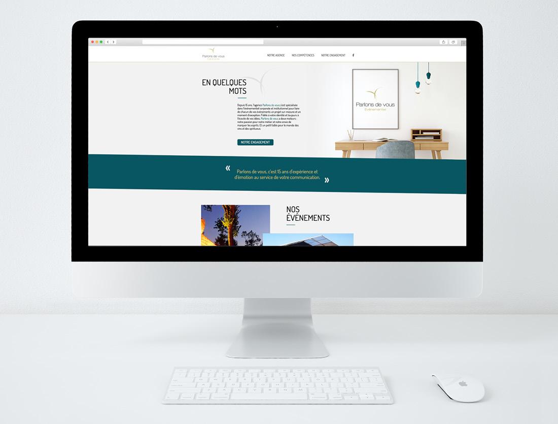 Site agence Parlons de Vous / page d'accueil