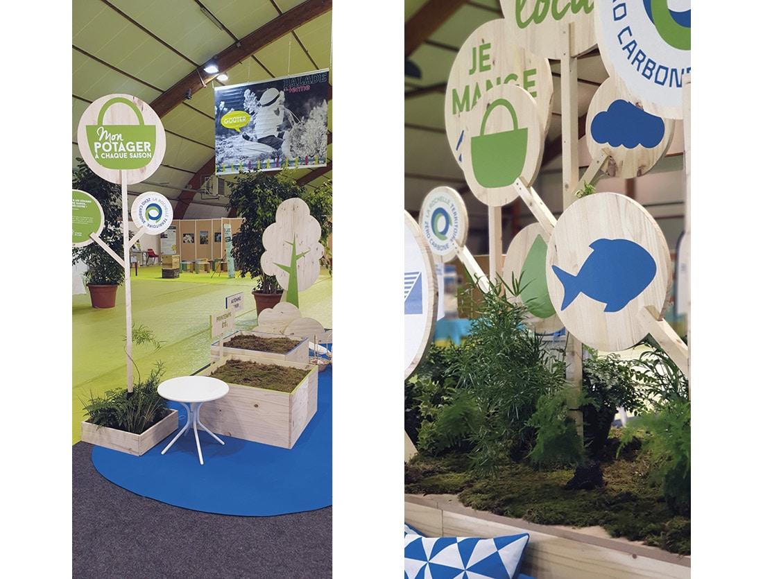 Stand scénographique CDA La Rochelle / Balade à la ferme