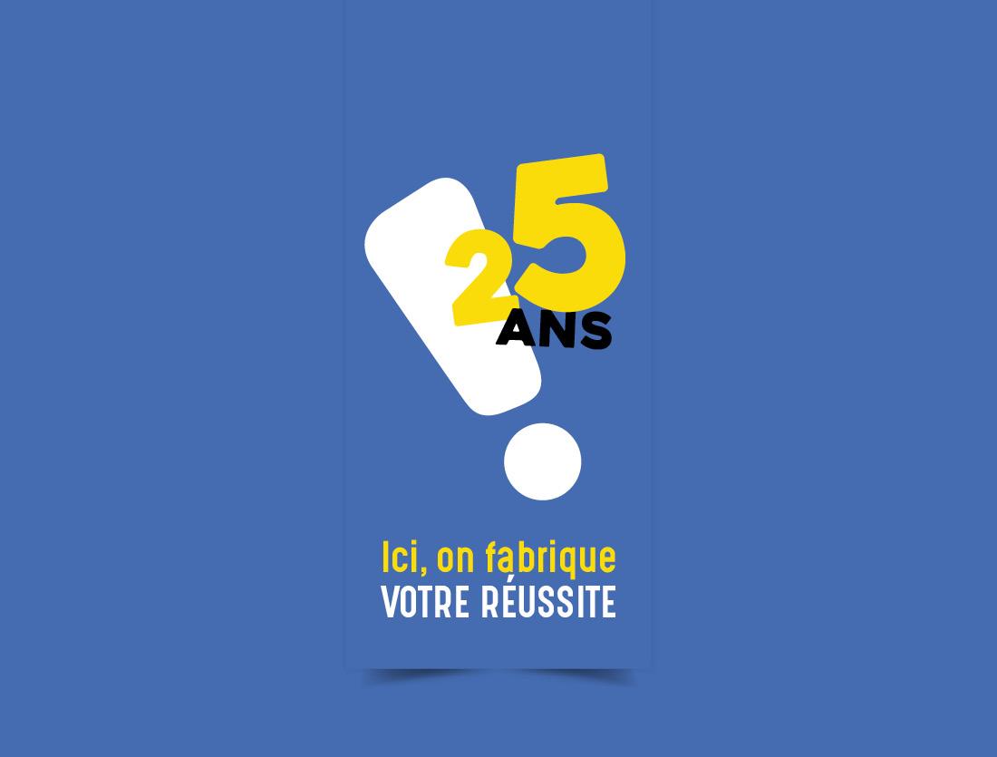 Logo 25 ans de l'université de La Rochelle