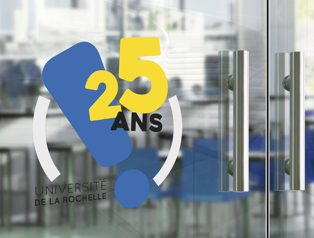 Identité et logo 25 ans de l'université de La Rochelle