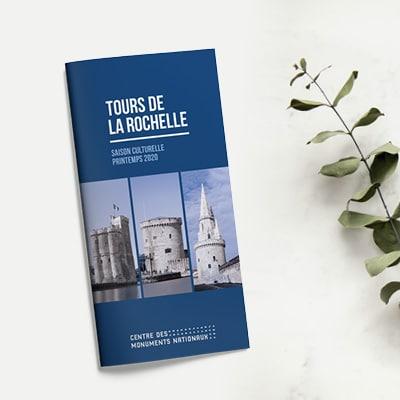 Brochure culturelle, programmation des Tours de La Rochelle, centre des monuments nationaux