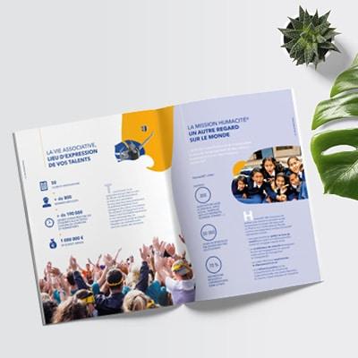 Brochure et communication pour l'école Excelia à La Rochelle, Tours et Orléans
