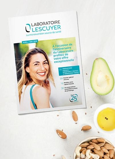 Brochures du Laboratoire Lescuyer, mailing santé sur les produits de micronutrition