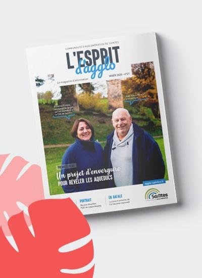 Magazine de l'Agglomération de Saintes, identité et mise en page