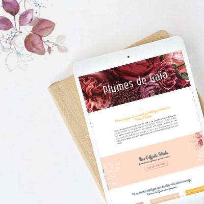 Communication globale et site e-commerce pour Plumes de Gaïa