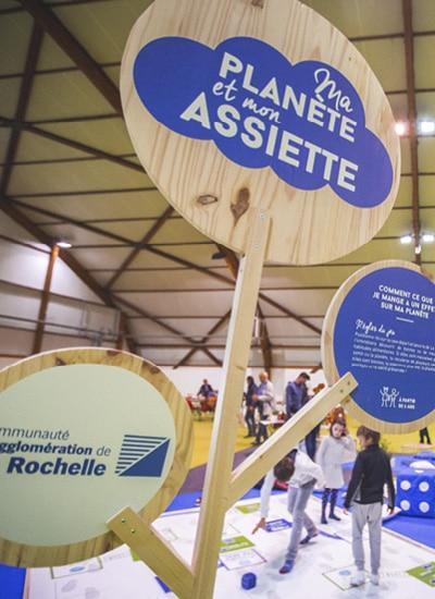 Stand et signalétique pour le stand de l'agglomération de La Rochelle